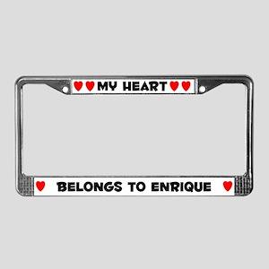 My Heart: Enrique (#004) License Plate Frame