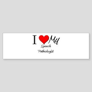I Heart My Speech Pathologist Bumper Sticker