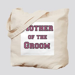 Pink Text Mother of the Groom Tote Bag