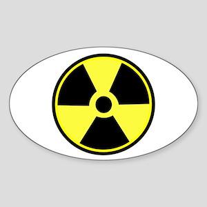Radioactive Symbol Oval Sticker
