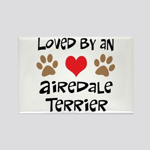 Loved By An Airedale Rectangle Magnet