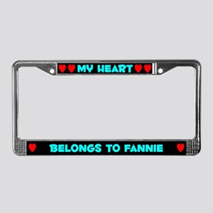 My Heart: Fannie (#003) License Plate Frame