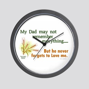 Never Forgets To Love 2 (Dad) Wall Clock