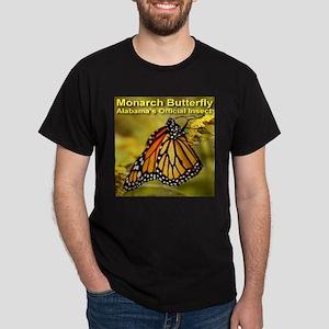 Monarch Butterfly Alabama Sta Dark T-Shirt