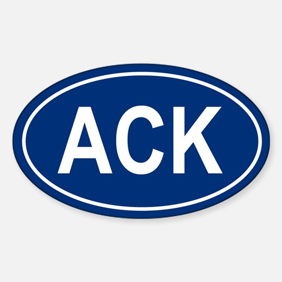 ACK Oval Decal