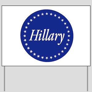 Star-Spangled Hillary Yard Sign