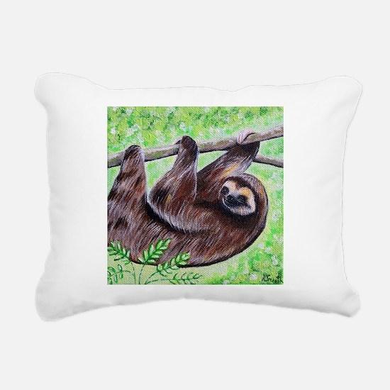Smiley Sloth Rectangular Canvas Pillow