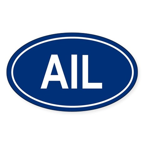 AIL Oval Sticker