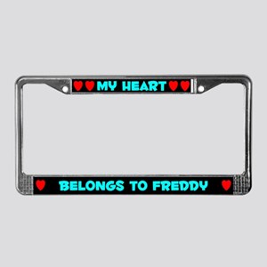 My Heart: Freddy (#003) License Plate Frame