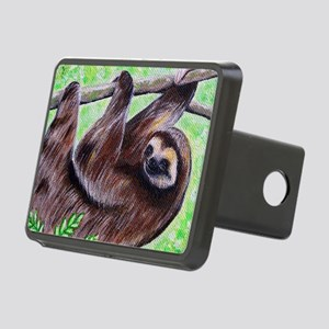 Smiley Sloth Rectangular Hitch Cover