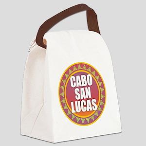Cabo San Lucas Sun Heart Canvas Lunch Bag