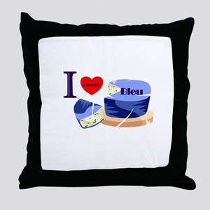 Bleu Cheese Throw Pillow