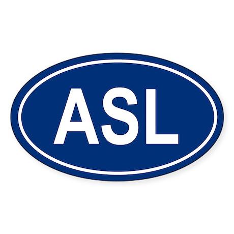 ASL Oval Sticker