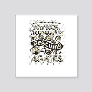 "Not Trespassing Agates Square Sticker 3"" x 3"""