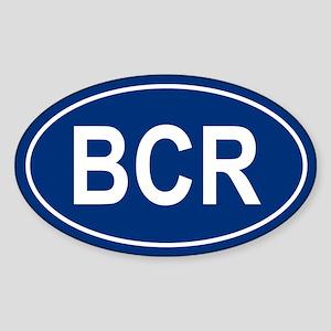 BCR Oval Sticker