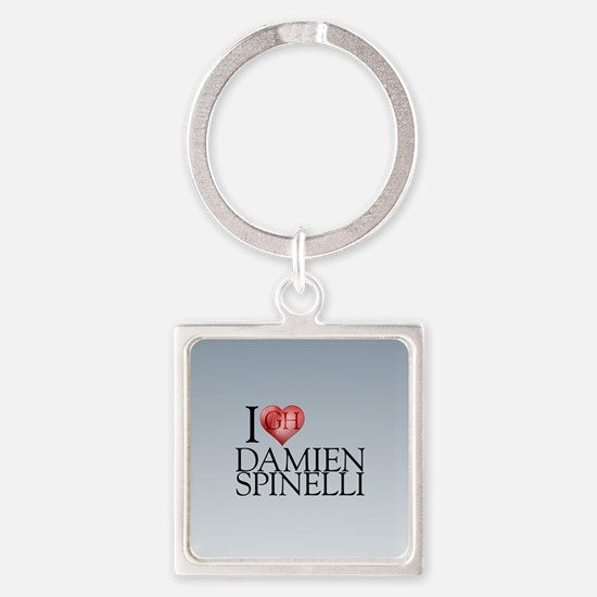 I Heart Damien Spinelli Square Keychain
