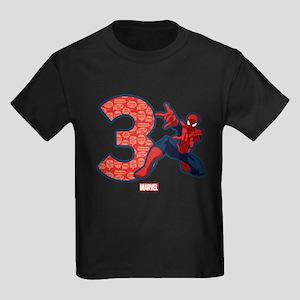 Spider-Man Birthday Age 3 T-Shirt