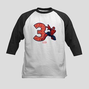 Spider-Man Birthday Age 3 Baseball Jersey