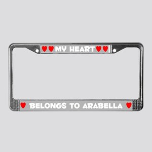 My Heart: Arabella (#006) License Plate Frame
