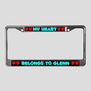 My Heart: Glenn (#003) License Plate Frame