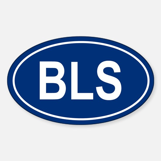 BLS Oval Decal