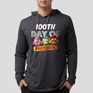 Owl 100 Days Pre-K Mens Hooded Shirt