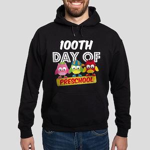 Owl 100 Days Pre-K Hoodie (dark)