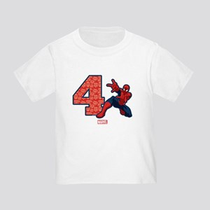 Spider-Man Birthday Age 4 Toddler T-Shirt