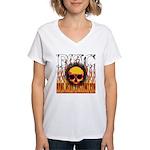 BHC FLAMED Women's V-Neck T-Shirt