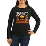BHC FLAMED Women's Long Sleeve Dark T-Shirt