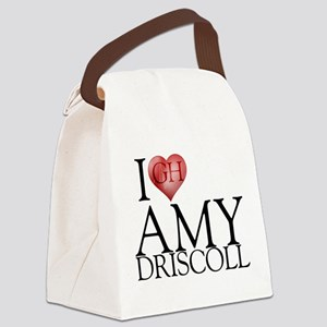 I Heart Amy Driscoll Canvas Lunch Bag