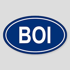 BOI Oval Sticker