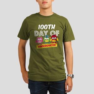 Owl 100 Days Kinderga Organic Men's T-Shirt (dark)