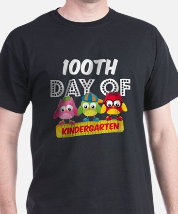 Owl 100 Days Kindergarten T-Shirt