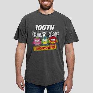 Owl 100 Days Kindergarte Mens Comfort Colors Shirt