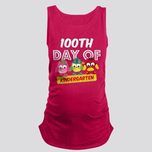 Owl 100 Days Kindergarten Maternity Tank Top