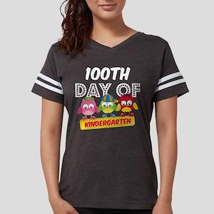 Owl 100 Days Kindergarten Womens Football Shirt
