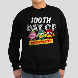Owl 100 Days Kindergarten Sweatshirt (dark)