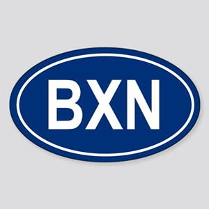 BXN Oval Sticker