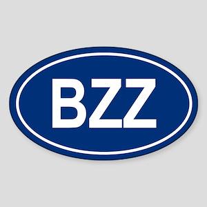 BZZ Oval Sticker