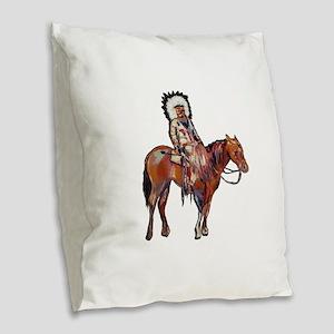 STRONG IMPRESSION Burlap Throw Pillow