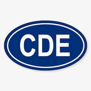 CDE Oval Sticker