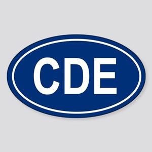 CDE Oval Sticker