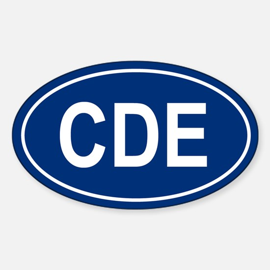 CDE Oval Decal