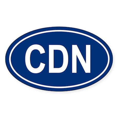 CDN Oval Sticker