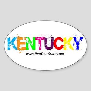 Colorful Kentucky Oval Sticker