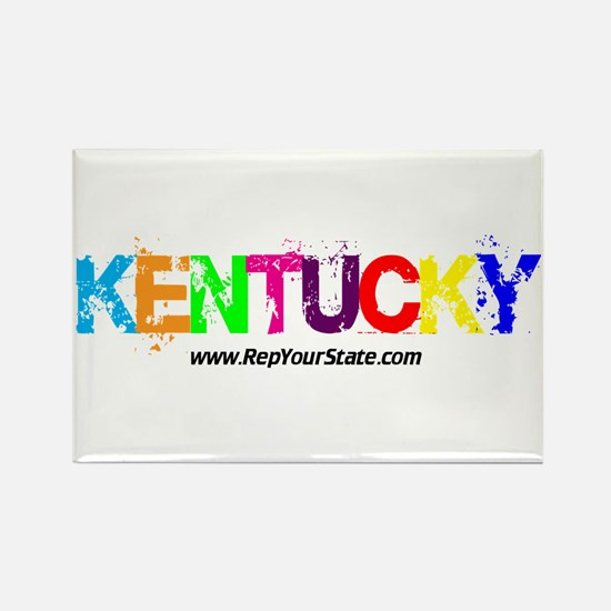 Colorful Kentucky Rectangle Magnet