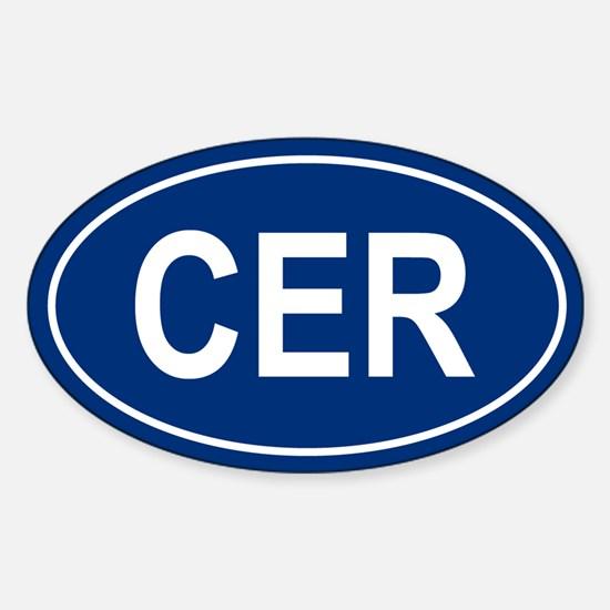 CER Oval Decal