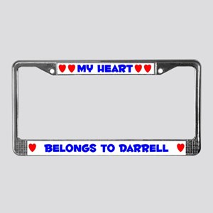 My Heart: Darrell (#005) License Plate Frame