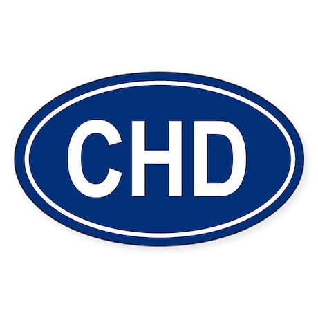 CHD Oval Sticker